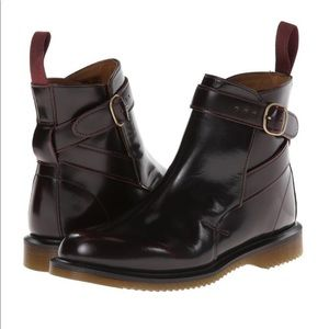 Dr. Martens Cherry Red Acadia Teresa Chelsea Boots